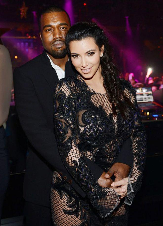 Rapper Kanye West và Kim Kardashian