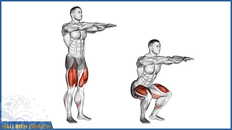 bài tập cải thiện rối loạn cương dương với squat