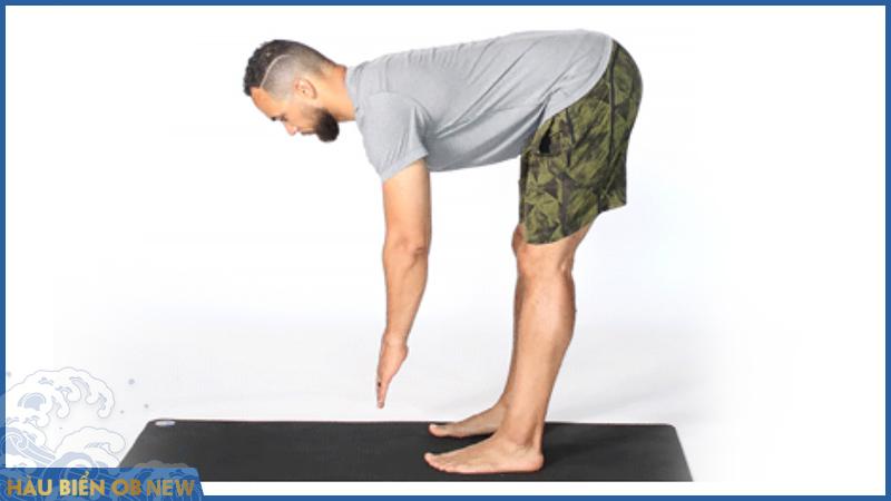 bài tập chữa rối loạn cương dương yoga Uttanasana