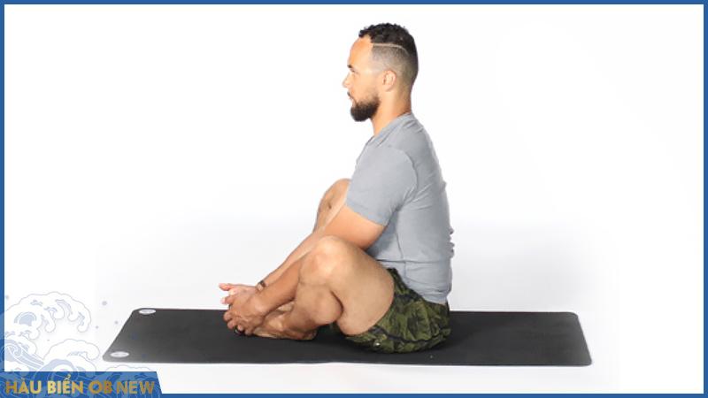 bài tập chữa rối loạn cương dương yoga Baddha Konasana