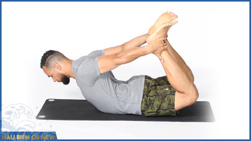 Bài tập rối loạn cương dương yoga Dhanurasana