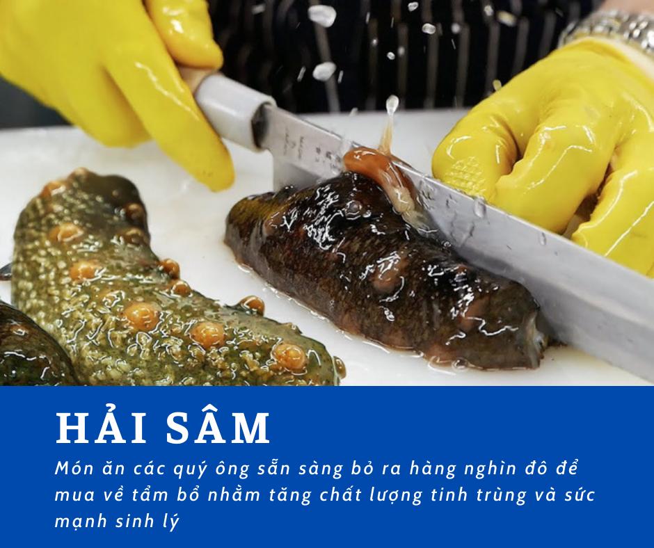 Hải sâm - thực phẩm giàu dinh dưỡng, đắt đỏ và quý hiếm được sánh ngang với yến sào, bào ngư và được ví như nhân sâm của biển cả